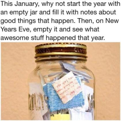 Jar with happy memories