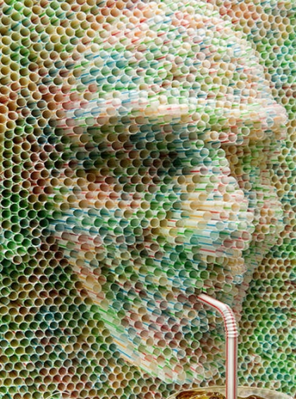 Face made from straws