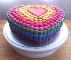 Heart Smartie Cake