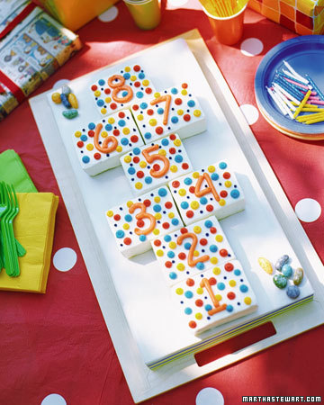 Polka Dot Cake from Martha Stewart
