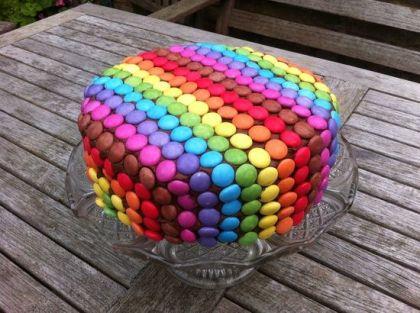 Round Smartie Cake