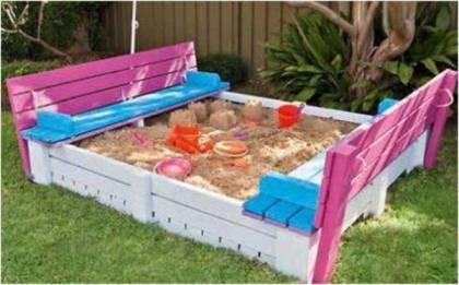 pallet sand box