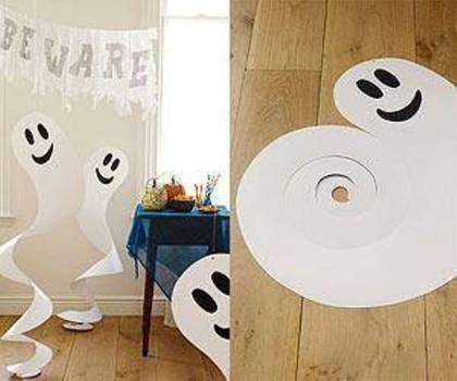 Swirl Ghost Decorations