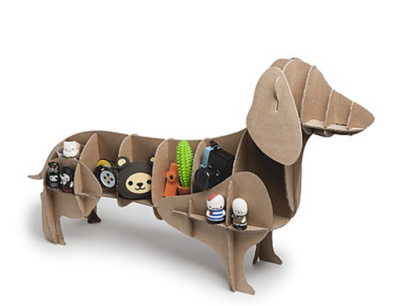 Cardboard Dog Shelving