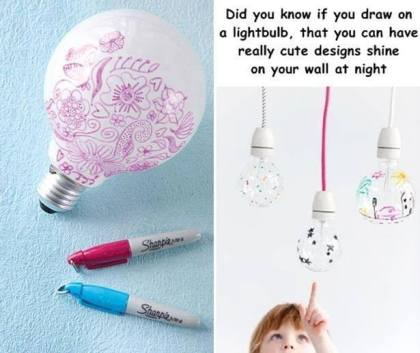 Sharpie Decorated Lightbulb